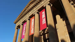 The Art Gallery of New South Wales (dolly shot 3) Stock Footage