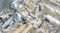 Rural landscape. Aerial bird POV clip Footage