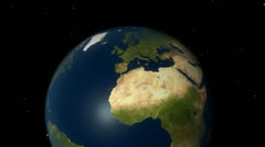 Earth europe Stock Footage