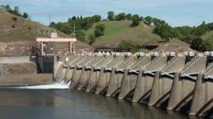 Nimbus Dam Sacramento California HD 5362 Stock Footage