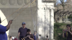 Central Park Bubble Guy 5 Stock Footage