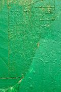Stock Photo of wooden boards painted in green
