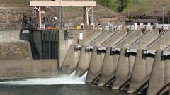 Nimbus Dam spillway Sacramento California HD 5369 Stock Footage