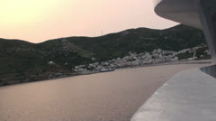 View of greek island of Fournoi 1 Stock Footage