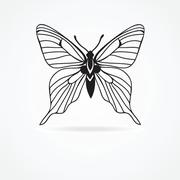 Butterfly isolated on white background Stock Illustration