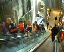 Budapest shopping center escalator Stock Footage