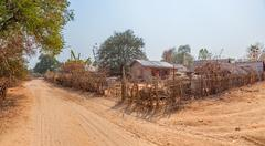 village in burma - stock photo