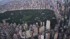 Aerial view Central Park, East and West side Manhattan, New York, USA, Stock Footage