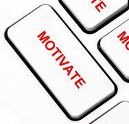 Motivate button on keyboard Stock Illustration