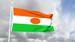 Flag of Niger Stock Footage