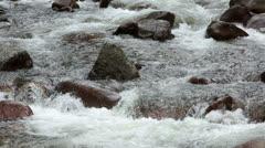 Sierra Nevada California mountain river close HD 5346 Stock Footage