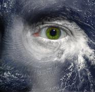 Hurrikaani silmä Kuvituskuvat