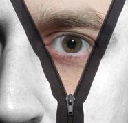 Zipper face Stock Photos