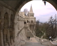 The Fisherman's Bastion in Budapest Stock Footage