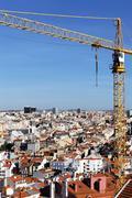 crane in lisboa - stock photo