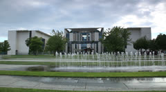 German chancellery building Stock Footage
