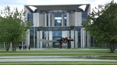 German Chancellery Building (Bundeskanzleramt) Stock Footage