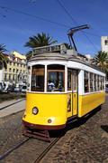 Stock Photo of yellow tram