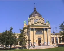 Bath house in Budapest Stock Footage