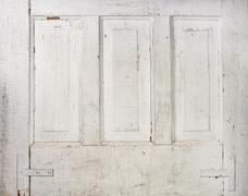 vintage panel door background - stock photo