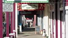 Virginia City Nevada boardwalk downtown HD 5293 Stock Footage