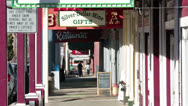 Virginia City Nevada boardwalk downtown HD 5293 Stock Footage