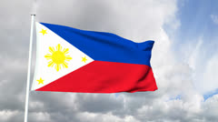 Flag of the Philippines Stock Footage