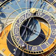 Zodiacal clock square Stock Photos