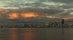 Seattle skyline Stock Footage