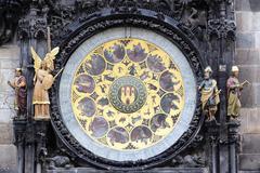 Part of prague zodiacal clock Stock Photos