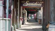 Virginia City Nevada downtown boardwalk HD 5297 Stock Footage