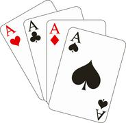 Stock Illustration of four aces