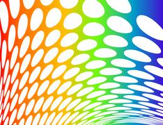 Color rounded gradient Stock Illustration
