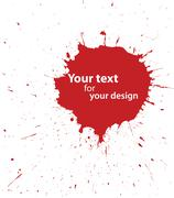 grunge blood spot for your design - stock illustration