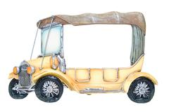 frame of foto as toy car - stock photo