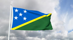 Flag of the Solomon Islands Stock Footage