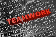 Stock Illustration of teamwork word cloud