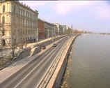 Stock Video Footage of Main road alongside river Danube in Budapest