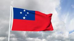 Flag of Samoa Stock Footage