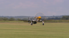 North american P51 Mustang take-off Stock Footage