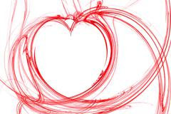 abstract red  heart - stock photo