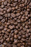 group coffee beans - stock photo