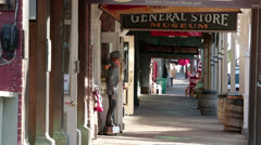 Virginia City Nevada historic downtown boardwalk HD 5298 Stock Footage