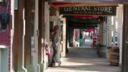 Virginia City Nevada historic downtown boardwalk HD 5298 Stock Footage