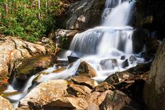 Laurel Falls in the Great Smoky Mountains Stock Photos