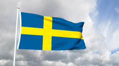 Flag of Sweden Stock Footage
