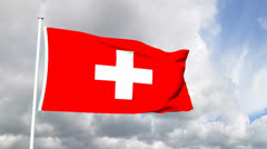 Flag of Switzerland Stock Footage
