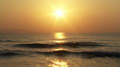 Beautiful Sunset at Beach 01 Stock Footage