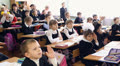 children in school, schoolboys and schoolgirls HD Footage