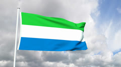 Flag of Sierra Leone Stock Footage